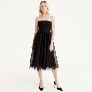 J. CREW Like NEW Black Pleated Tulle Dress size 4
